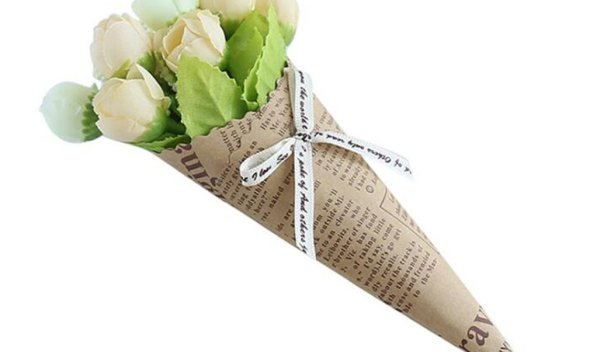 Kraft Paper Design Handmade Daisy Flowers Artificial Simulation Flowers For Wedding Party Home Design Bouquet Decoration