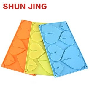 End Of The Year Originality Silica Gel Cake Mould 6 Even Silica Gel 3d Core Chocolates Model Kitchen Small Tool