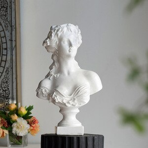 Large 54Cm Retro Goddess Portrait Resin Statue Living Home Hotel Decoraion Accessories Desktop Decor Ornmaent Home Design Gifts