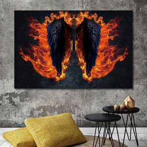 Wall Art Pictures For Home Design Angel Wings Canvas Painting Nordic Decoration Home Posters and Prints Living Room Decoration