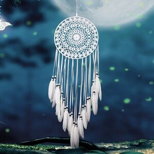 Multi-styles Home Design Handmade Dream Catcher With Rattan Bead Feathers Wall Car Hanging Ornament Dreamcatcher Home Decor