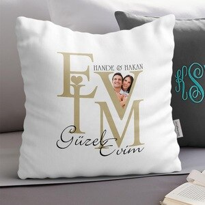 Personalized Home Sweet Home Design White Pillow-2