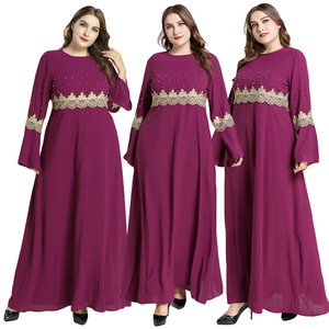 Ramadan Women Muslim Long Sleeve Maxi Dress Abaya Kaftan Vintage Islamic Turkey Casual Jilbab Cocktail Robe Gown Clothing New