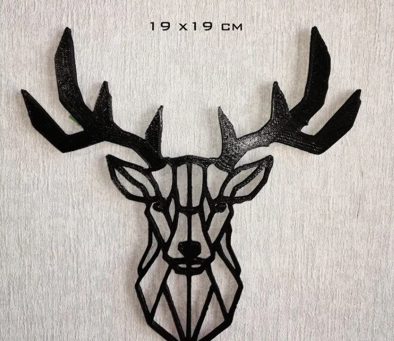 Decorative Deer 3D Wall Object Home Design Home Decoration 3D Printer Accessory