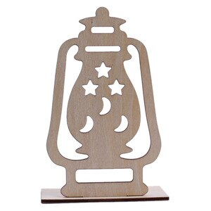 Ramadan Wooden Eid Mubarak Decoration Moon Islam Mosque Muslim Wooden Plaque Hanging Pendant Festival Party Supplies 2#