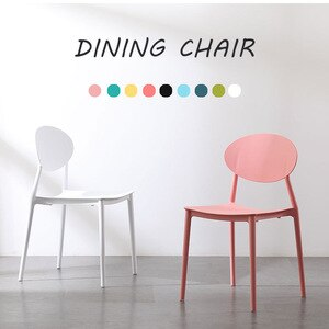 Nordic Modern Dining Chair Creative Makeup Chair Tea coffee Chair Home Designer Wrought Plastic Home Study Bedroom Chair