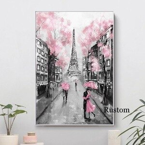 Landscape Canvas Eiffel Tower Wall Art Decoration for Home Pitures for Home Design Paintings On The Wall Frameless