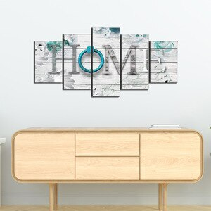 Abstract Dreamy Home Decoration Pictures Large 5 Pieces Canvas Printed Paintings Modern Wall Art Decor Home Design Wedding Gifts