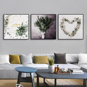 Scandinavian Flower Canvas Painting Floral Leaf Poster Wall Art Pictures For Home Design Room Decoration Modern Home Decor Print