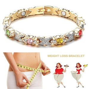 Weight Loss Stone Magnetic Burn Fat Therapy Slimming Bracelets Health Care Magnetic Hematite Stretch Beaded Bracelets Women