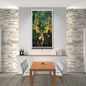 Funny Deer Pictures For Home Design Canvas Painting For Living Room Scandinavian Home Decor