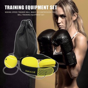 Weight Loss Training Gloves Boxing Headband Sets Punching Speed Ball Fitness for Easy Safety Working-out Ornaments