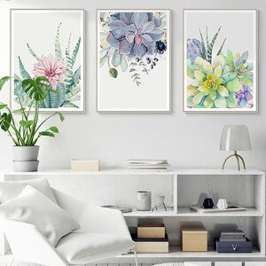 Green Plant  Canvas Printings Wall Pictures For Home Design Living Room Aesthetic Decoration No Frame HD Spray Painting