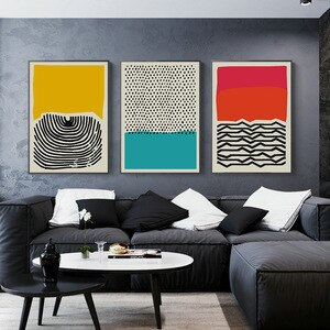 Abstract Geometric Wall Art Canvas Painting Multicolored Posters and Prints Gallery Picture for Living Room Aisle Home Design