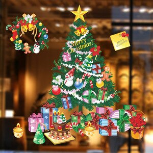 Christmas Tree Gifts Stickers on the Wall Kids Room Nursery Decor Vinyl Wallpaper DIY Home Design Mural Decal X mas Accessories