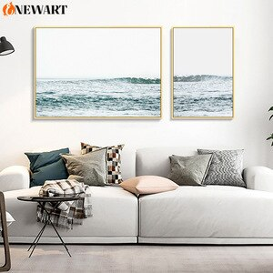 Nordic Seascape Canvas Painting for Living Room Decoration Picture Wall Poster Home Design Landscape Painting Pictures