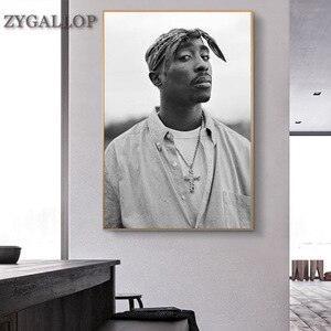 Tupac Shakur 2PAC Canvas Painting Rapper Star Poster Hip Hop Art Painting Moder Wall Decor Posters Wall Pictures for Home Design