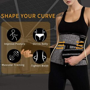 Weight Loss Compression Trimmer Workout Fitness Neoprene Waist Trainer Corset Sweat Belt For Women