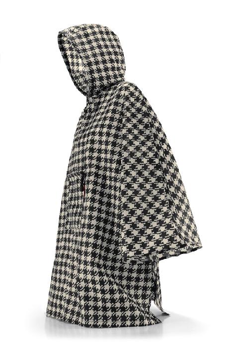 REISENTHEL, Maxi poncho à capuche motif pied de poule 100% Polyester, 29,95€