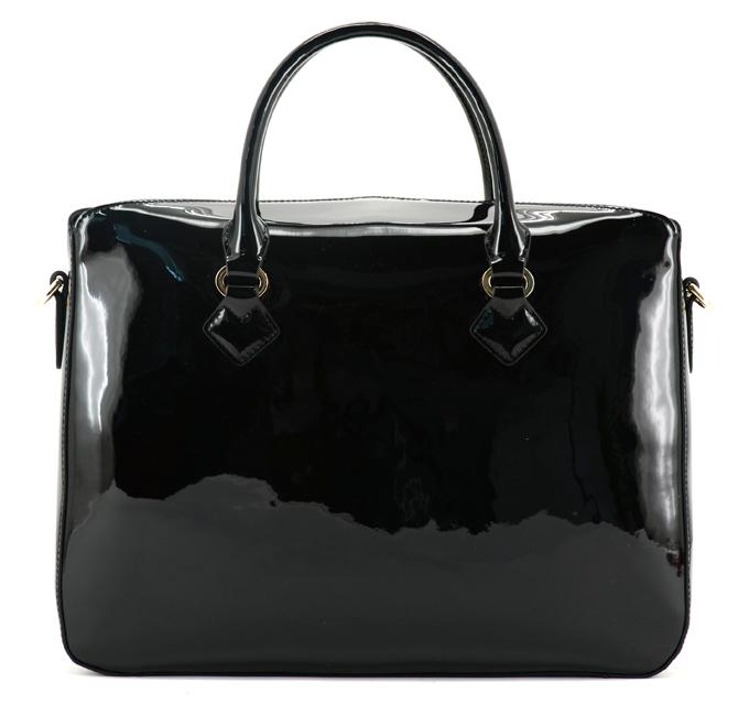 MAISON POURCHET, modèle Cassetta Worker en toile laquée noire. 115 €