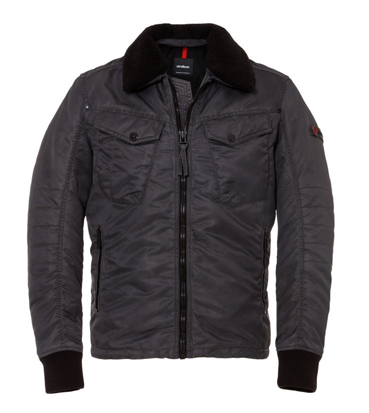 Jacket, blouson court cintré chez Strellson.