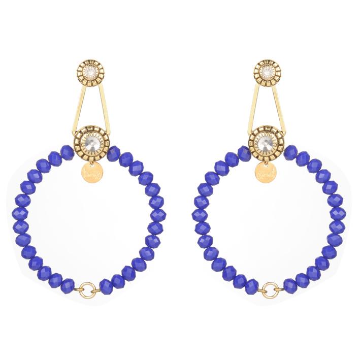 Des perles bleues chez JULIE SION.