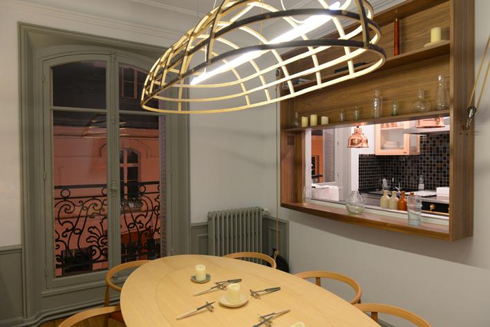 L'espace gastronomie, une cuisine privée, dans laquelle Sven Chartier viendra créer au gré de ses envies.