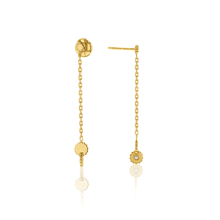 Arthus Bertrand, collection Australe, pendant d'oreille en or jaune.