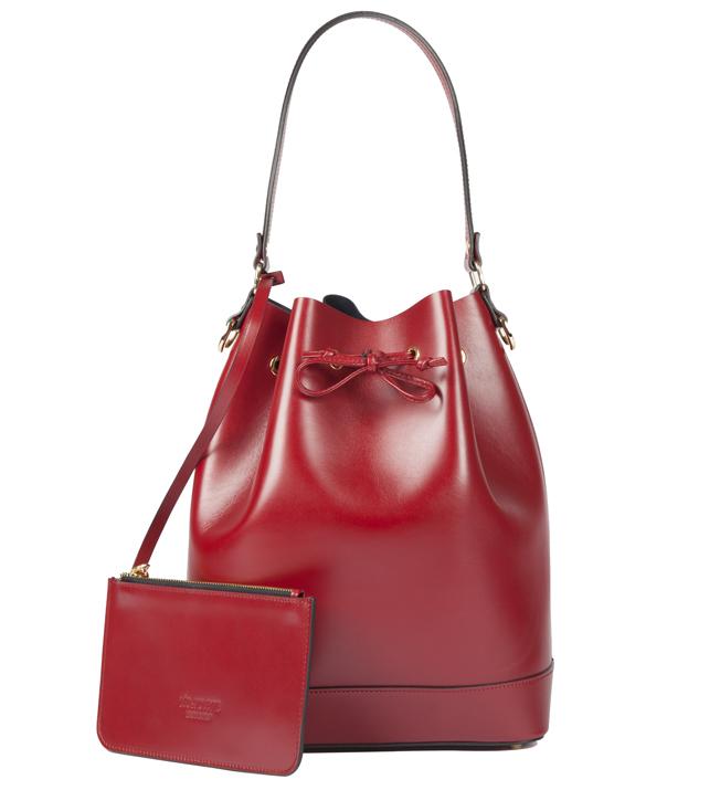Léo et Violette, le Violette, sac bourse, rouge.