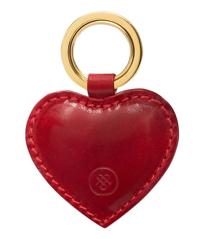 Maxwell Scott, Mimi, le porte-clés cœur en cuir rouge.