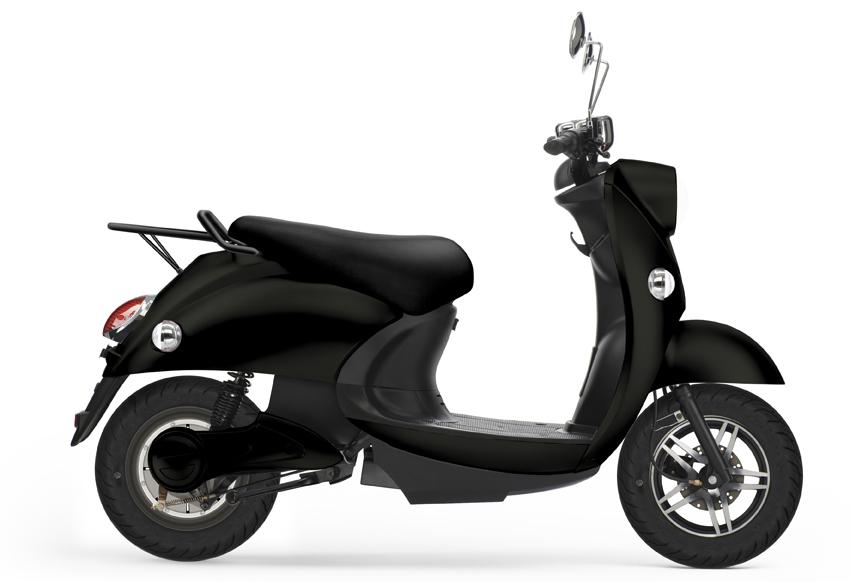 UNU, scooter électrique noir.