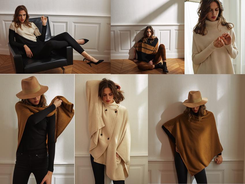collection cachemire pour un hiver au chaud avec Poncho Gallery