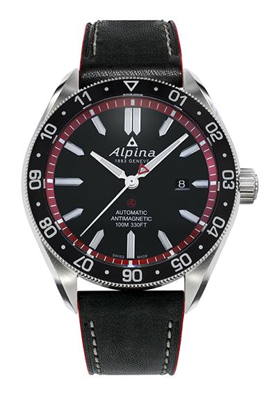 Alpina - Alpiner 4 automatique - bracelet cuir soldat - AL-525BR5AQ6