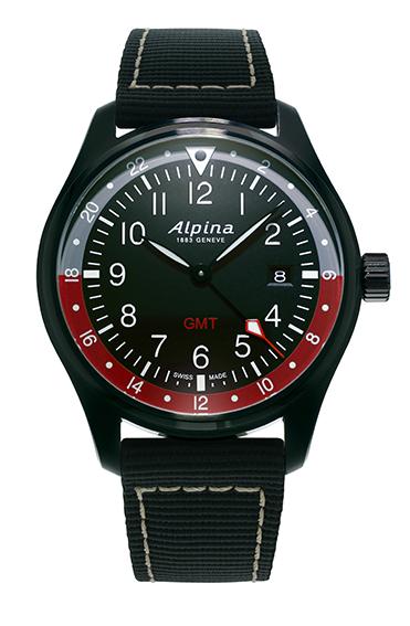 Alpina - Startimer Pilot Quartz GMT - PVD Noir - soldat AL-247BR4FBS6