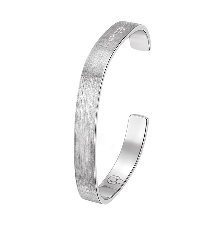 Bracelet dinh van, collection Zen en argent brossé. 590 €