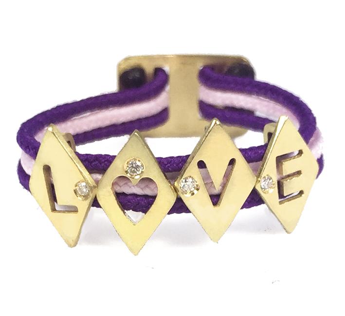 Bague Love en or jaune et diamants 245€ Aimée.Aimer