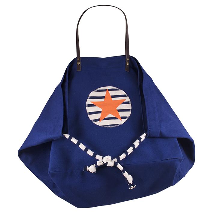 Sandrine de Courcy, les accessoires made in Bretagne, cabas Chotine en coton et cuir pour les anses, 72 €.