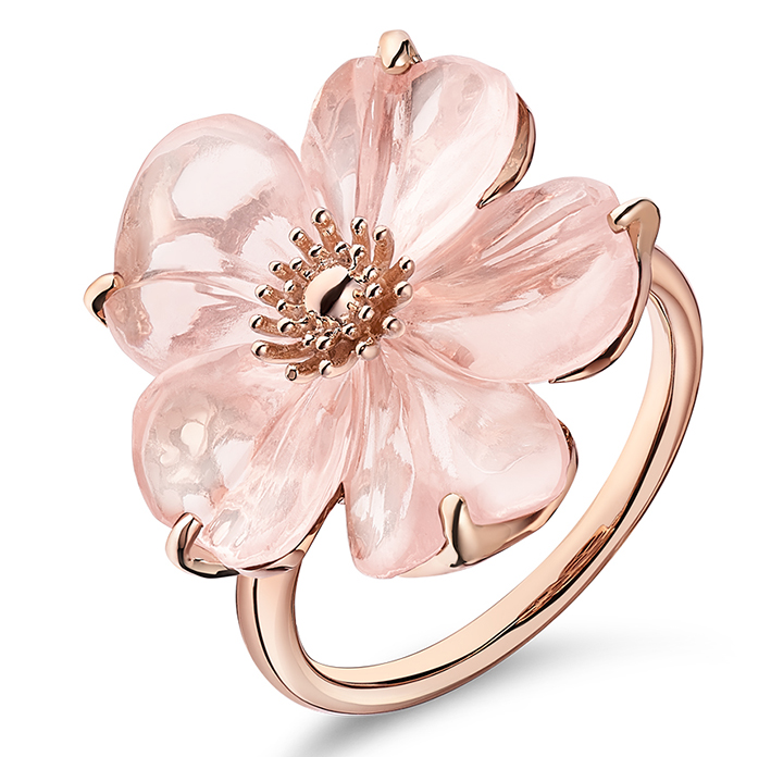 Guérin An or rose et quartz rose 1300
