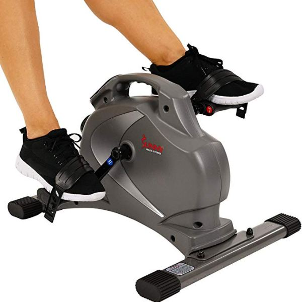 Sunny Health & Fitness SF-B0418 Magnetic Mini Exercise Bike, Gray ShoppingExclusives.com