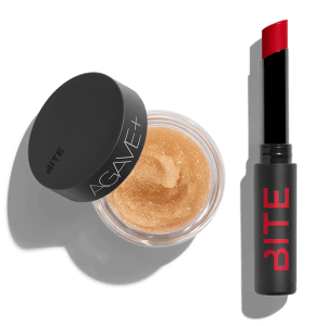 AGAVE+ LIP SCRUB + OUTBURST LIP STAIN DUO by Bite Beauty