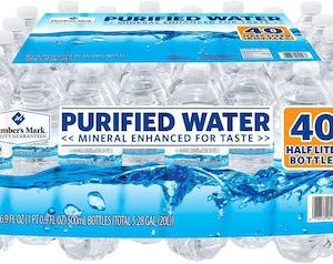 Member's Mark 40 Piece Purified Bottled Water