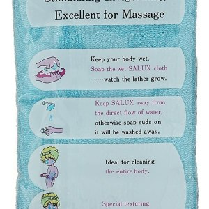 Salux Nylon Japanese Beauty Skin Bath Wash Cloth Shopping Exclusives 2