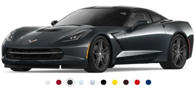 Color range buttons from Chevy website. Featured is the Green-Black Watkins Glen option named in honor of the legendary NASCAR race track
