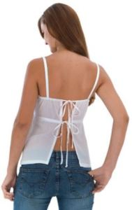 Great Warm Weather Rayon Babydoll Top With Tie Back.