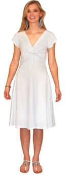 In Cotton, This Twist-Front Dress With Flared Skirt Is A Style That Flatters Practically Everyone.
