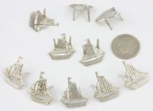 Piratey Gear Might Benefit From These Sailing Ship Stud Embellishments From KitKraft.