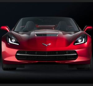 The intensity of the 2018 Corvette Stingray as seen in the rear-view mirror of the slow poke in front of you