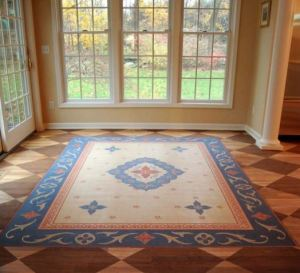 Cannot afford a rug either-no problem just stencil-ChristiansOnLee.Com