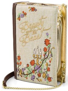 Beauty and the Beast clutch purse, shaped like a fairytale book, blends the Princess Vibe with the Summer Vibe nicely. ThinkGeek.com.