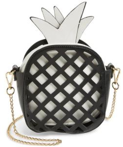 Cutout Pineapple crossbody bag by Capelli New York for children looks grown-up and fashionable. Nordstrom.com.